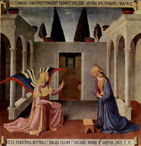 'Annunciation,' by Fra Angelico, 1450