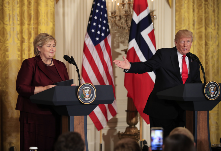 In this Wednesday, Jan. 10, 2018 file photo, US President Donald Trump speaks during a joint news conference with Norwegian Prime Minister Erna Solberg. Africans woke up on Friday Jan. 12, 2018 to find President Donald Trump taking an interest in their continent. Using vulgar language, Trump on Thursday questioned why the U.S. would accept more immigrants from Africa rather than places like Norway in rejecting a bipartisan immigration deal. (AP Photo/Manuel Balce Ceneta, File)