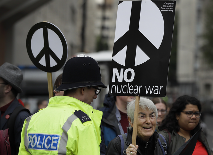 Was a service to honor nuclear-weapons crews at Westminster Abbey blasphemous?