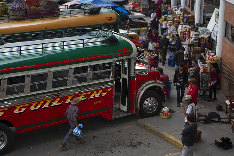 The bus terminal in San Marcos, Guatemala, on Jun 8, the spot where many Guatemalan migrants begin their journey to reach the United States. (AP Photo/Moises Castillo)