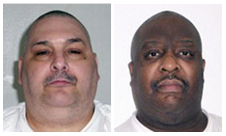 This combination of undated file photos provided by the Arkansas Department of Correction shows death-row inmates Jack Jones, left, and Marcel Williams. (Arkansas Department of Correction via AP, File)