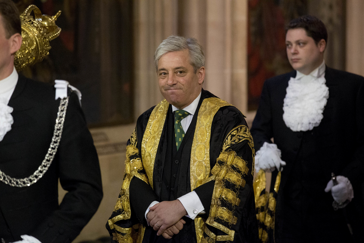 The Speaker of the House of Commons John Bercow, pictured here at the Palace of Westminster in June 2014, says he strongly opposes letting U.S. President Donald Trump address Parliament during a state visit to the U.K. (AP Photo/Matt Dunham, Pool, File)