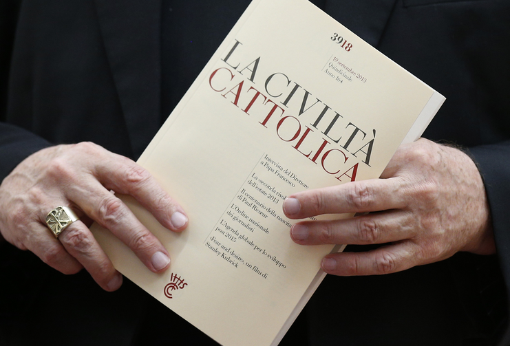 An issue of the Italian journal La Civiltà Cattolica (CNS photo/Paul Haring)