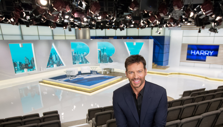 "Harry Connick Jr. is seen on the set of his TV show ""Harry."" (CNS photo/ courtesy NBC Universal)"