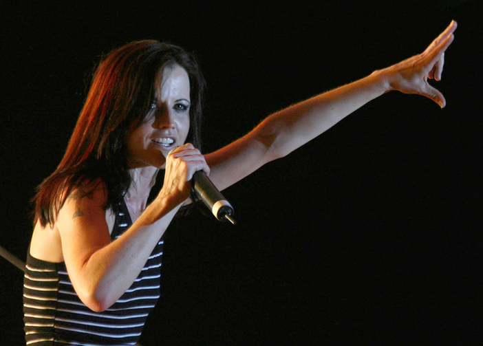 Dolores O'Riordan, former lead singer of The Cranberries, performs on stage during a concert in 2007 in Tirana, Albania (CNS photo/Arben Celi, Reuters).
