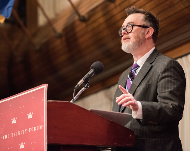 "Author Rod Dreher speaks March 15 at the National Press Club about his new book on the ""Benedict Option"" (CNS photo/The Trinity Forum)."