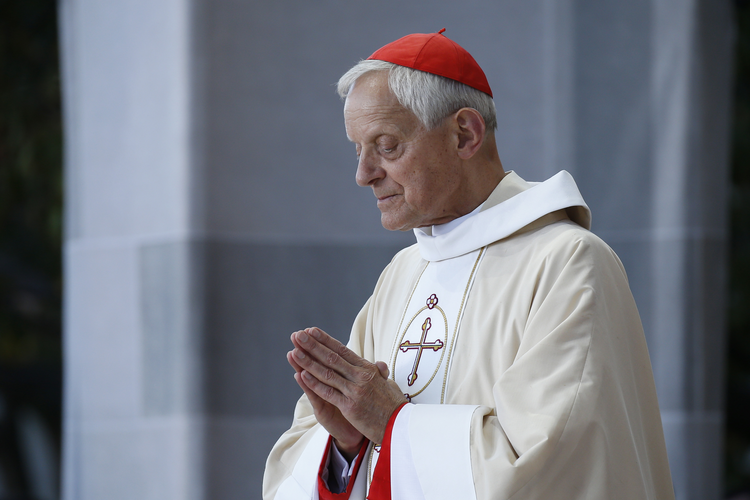 Cardinal Donald W. Wuerl of Washington is pictured as Pope Francis celebrates Mass in Washington Sept. 23, 2015. (CNS photo/Paul Haring)