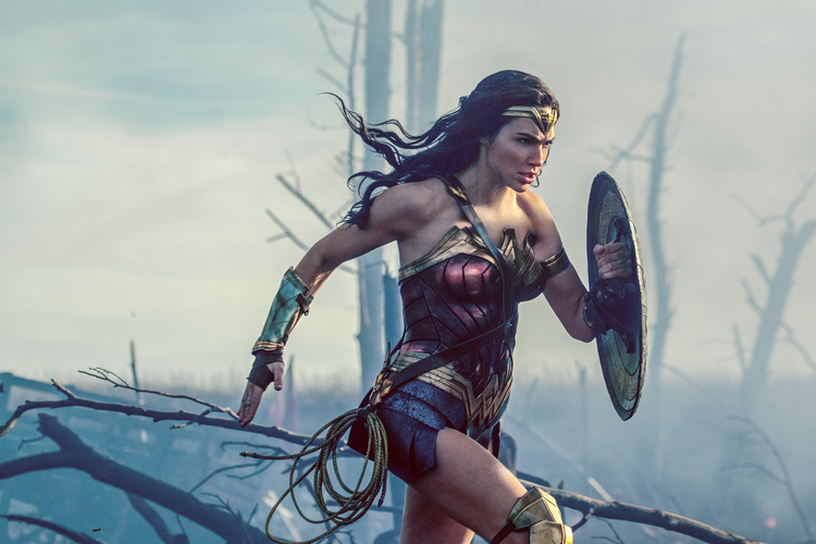 "Gal Gadot in ""Wonder Woman"" (CNS photo/Warner Bros.)"