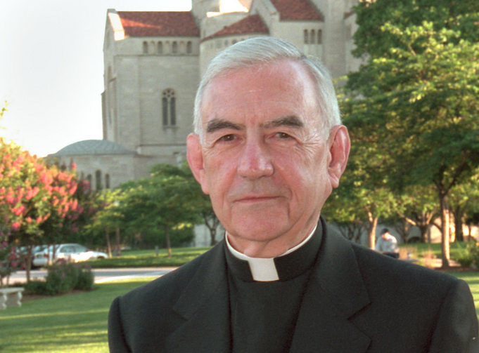 Retired San Francisco Archbishop John R. Quinn is pictured in a 2001 photo in Washington. He died June 22 at age 88 in San Francisco (CNS photo/Nancy Wiechec).