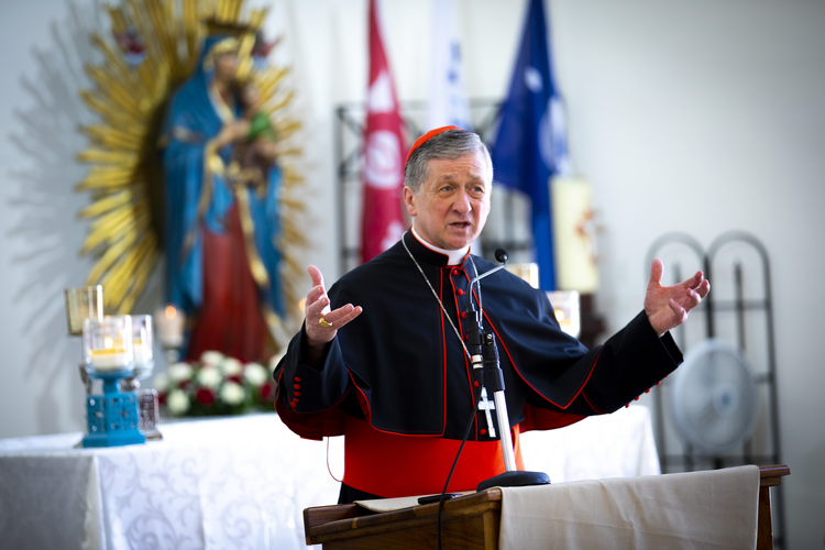 Chicago Cardinal Blase J. Cupich leads a catechesis session for World Youth Day pilgrims at the Parish of Our Mother of Perpetual Help in Panama City Jan. 25, 2019. (CNS photo/Chaz Muth