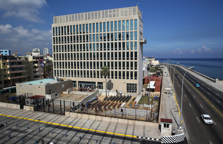 The U.S. Embassy in Havana (CNS photo/Alejandro Ernesto, EPA)