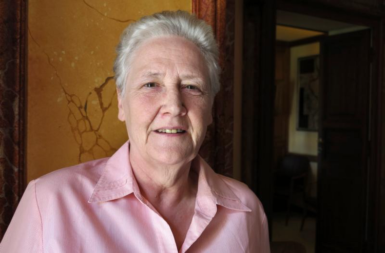 Marie Collins of Ireland, a survivor of clergy sexual abuse, is pictured in a 2014 photo. (CNS photo/Carol Glatz)