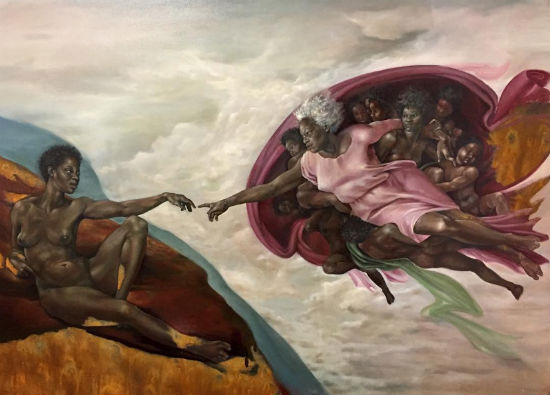 Afro-Latina artist reimagines Michelangelo's