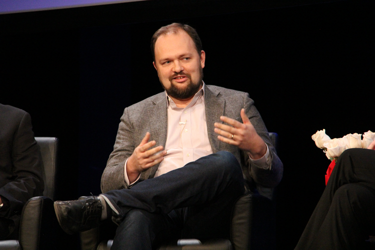 Ross Douthat at the 'Civility in America Part 1: Religion' event held at The Sheen Center in New York, Dec. 13. (Photo: America/Antonio DeLoera-Brust)