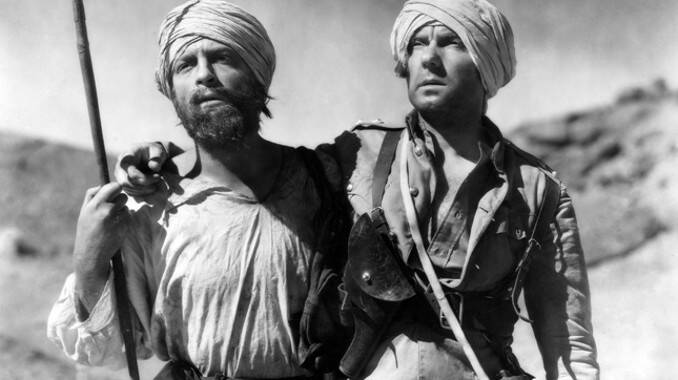 Promotional photograph of John Clements and Ralph Richardson in the 1939 film, The Four Feathers