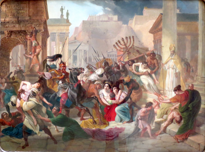 """The Sacking of Rome"" (Karl Bryullov/public domain via Wikimedia)"
