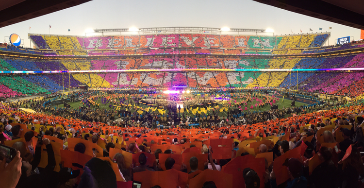 What it's like to set up and tear down a Super Bowl halftime show