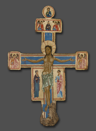 Master of the Bigallo Crucifix. Crucifix, 1230/1240. The Art Institute of Chicago, A. A. Munger Collection.