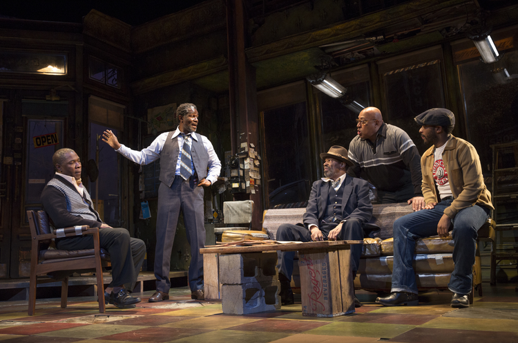 "The cast of ""Jitney"" at Manhattan Theatre Club (photo: Joan Marcus)"