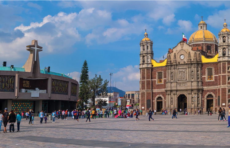 The Basilica of Our Lady of Guadalupe (1976 building at left and 1709 building in center), Mexico City (iStock/Byelikova_Oksana)