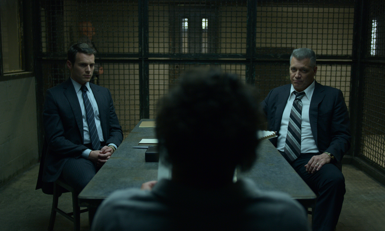 Bill Tench (Holt McCallany) and his visionary-but-troubled partner Holden Ford (Jonathan Groff) in 'Mindhunter' (photo: Netflix).