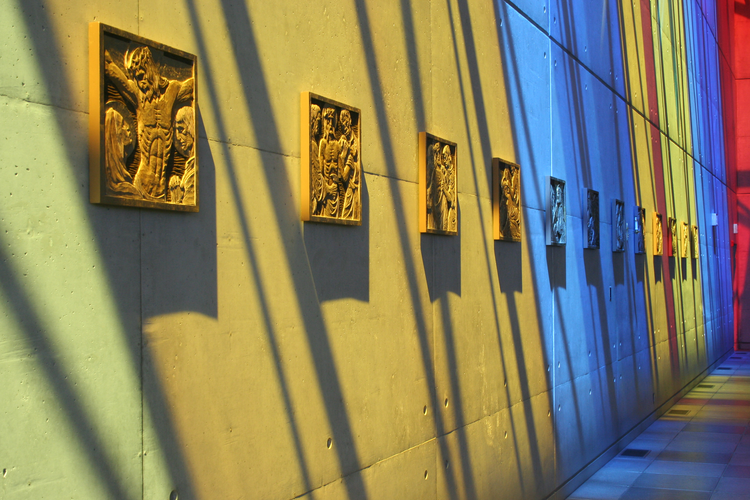Light streams into St. Gabriel's Passionist Parish in Toronto. (Photo courtesy of Larkin Architect Limited)