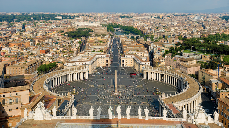 Saint Peter's Square in Vatican City. (Photo by David Iliff/Wikipedia Commons)