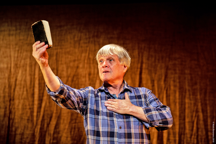 "Ken Jennings's ""The Gospel of John"" is now onstage at New York City's Sheen Center through Dec. 29. (photo: Maria Baranova)"
