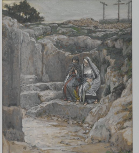 """The Two Marys Watch the Tomb of Jesus,"" by James Tissot."