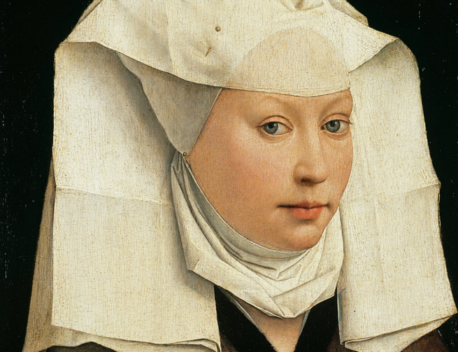 Portrait of a Woman with a Winged Bonnet, by Rogier van der Weyden (Wikimedia Commons)