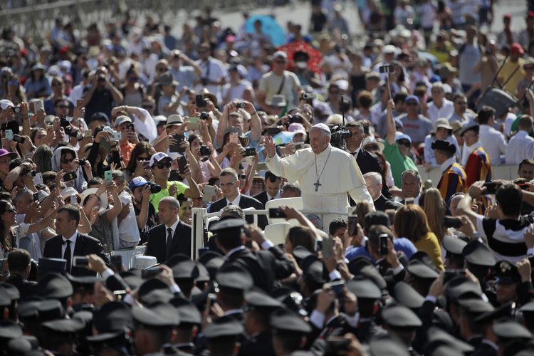 Pope Francis arrives for his weekly general audience in St. Peter's Square at the Vatican, on Wednesday, June 21, 2017. (AP Photo/Alessandra Tarantino)
