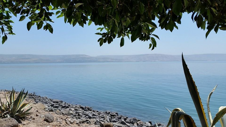 View of the Sea of Galilee from Capernaum