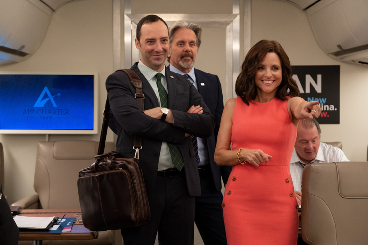 "Tony Hale, Gary Cole and Julia Louis-Dreyfus in ""Veep"" (Colleen Hayes/HBO)"