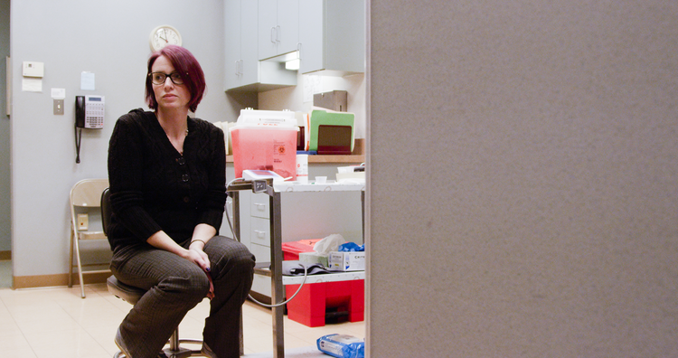 Amie in 'Abortion: Stories Women Tell' (photo courtesy HBO)