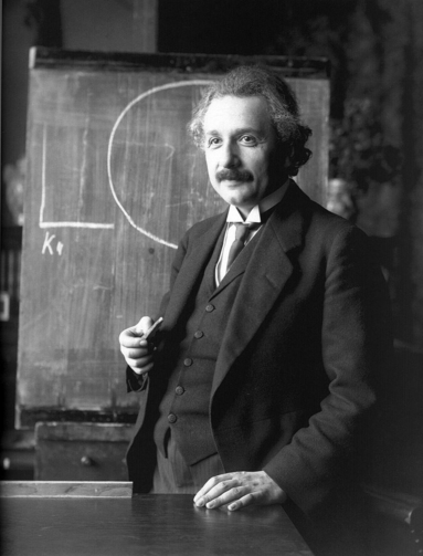 Albert Einstein during a lecture in Vienna in 1921 (Photo from Wikimedia Commons)