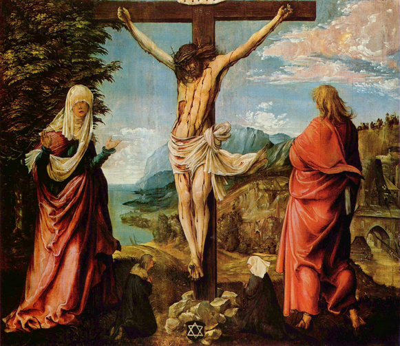 Christ on the Cross between Mary and John by Albrect Altdorfer, 1512