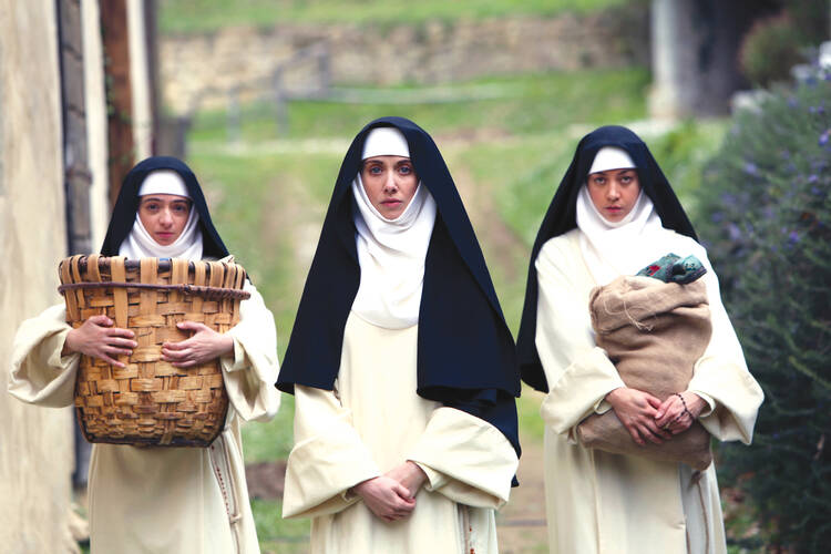 "Kate Micucci, Alison Brie and Aubrey Plaza in ""The Little Hours"" (photo: Sundance)"