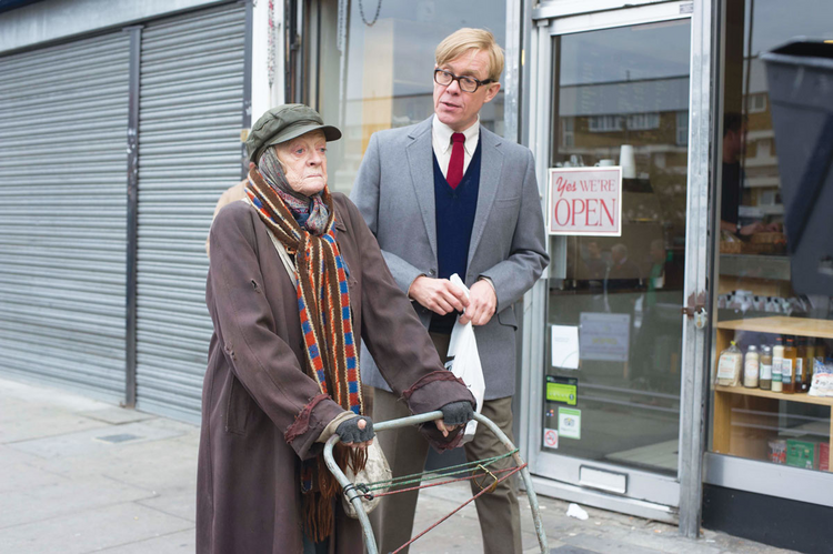 NOT SO PRIME. Maggie Smith as Miss. Shepherd and Alex Jennings as Alan Bennett