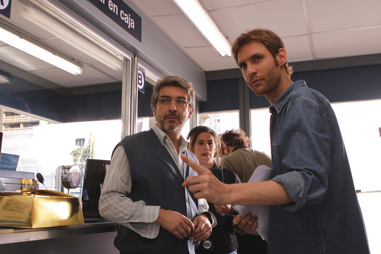 "POSTCARDS FROM THE EDGE. Ricardo Darin and director Damián Szifron of ""Wild Tales"""