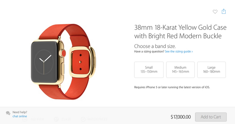 A sign of the times? Apples $17k watch.