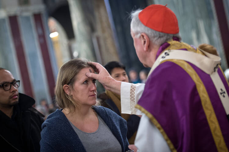 Cardinal Vincent Nichols at Westminster Cathedral, Ash Wednesday 2017
