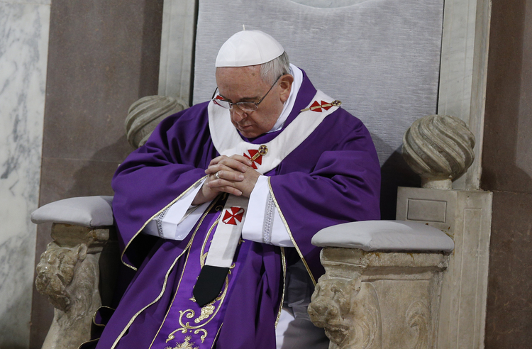 Pope Francis at Ash Wednesday Services