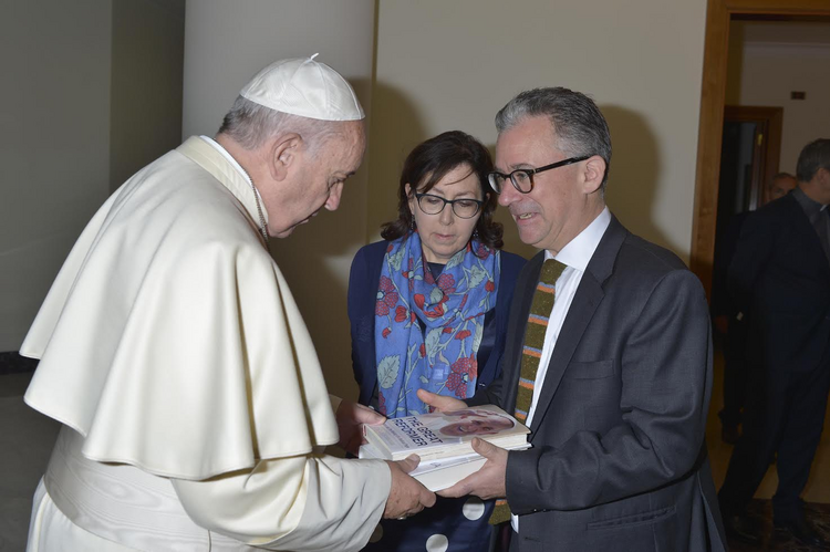 Austen Ivereigh with Pope Francis (photo provided)