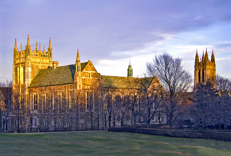 Boston College's Burns Lawn (Photo via Wikimedia Commons)