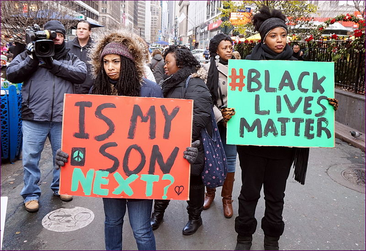 NYC action in solidarity with Ferguson, Mo. (Flickr photo/All-Nite Images)