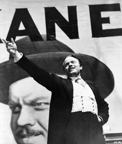 "Orson Welles in ""Citizen Kane"""