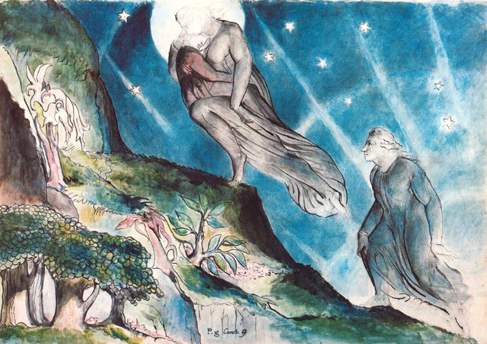 Lucia Carrying Dante in His Sleep by William Blake 1824-27