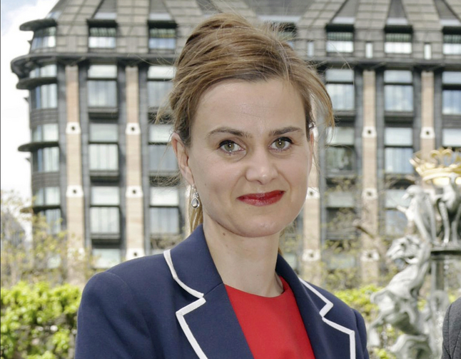 Labour Member of Parliament Jo Cox poses for a photograph. British lawmaker Cox has died after a shooting incident near Leeds, in West Yorkshire, England, it has been reported, Thursday June 16, 2016. (Yui Mok/PA via AP, File)