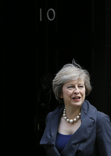 Britain's Home Secretary Theresa May arrives to attend a cabinet meeting at 10 Downing Street, in London, on July 12. Theresa May will become Britain's new Prime Minister on Wednesday. (AP Photo/Kirsty Wigglesworth)
