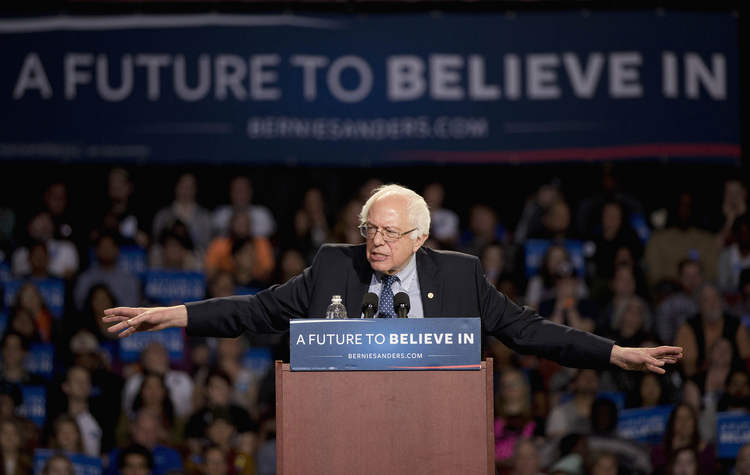 A Future She Believes In. Sanders in South Carolina (AP Photo/John Bazemore, File)